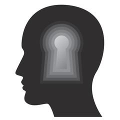 Psychology, human mind, thoughts and intelligence idea.