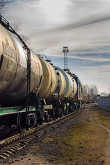Freight train with tanks