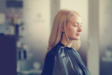 girl in a hairdressing salon