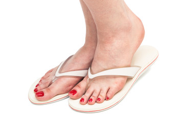 foot in a sandal