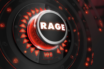 Rage Controller on Black Console.