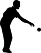 Bocce Player Silhouette - 81772005