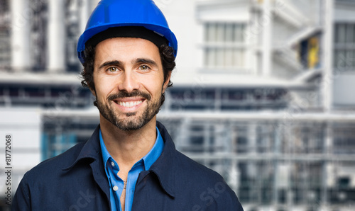 Engineer portrait in a site plant - 81772068