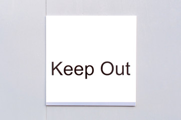 Sign 'Keep Out'