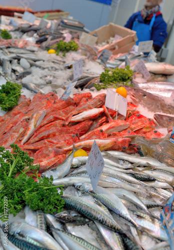 Keuken foto achterwand Boodschappen rayon poisson