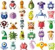 Набор векторных милые монстров и роботов