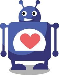Мультфильм векторные Валентина робот