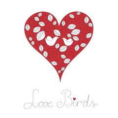 Pair of lovebirds vector illustration