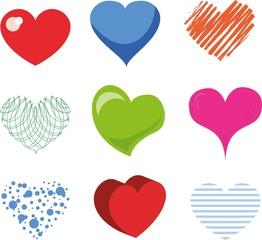 Векторный набор Валентина сердца