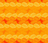 Quirky seamless waves pattern in warm colors poster