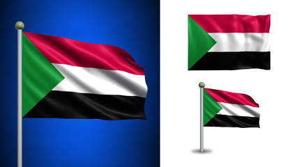 Sudan flag - with Alpha channel, seamless loop!