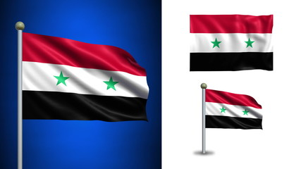 Syria flag - with Alpha channel, seamless loop!