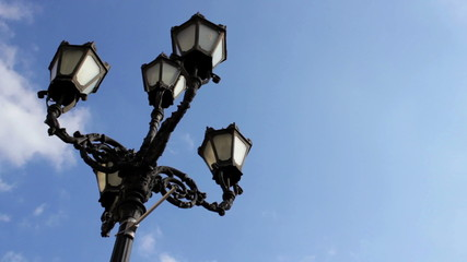 street lamp in the afternoon