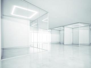 Blank office space. 3D rendering