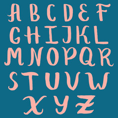 Hand drawn doodle font