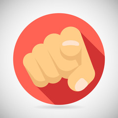 Pointing Finger Potential Client Politician Businesman Elected