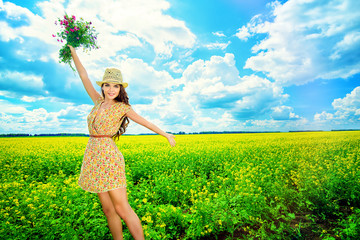 countryside happy