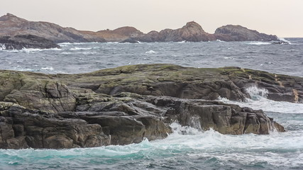 Sea surf off the coast of Norway