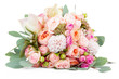 Leinwandbild Motiv Beautiful bouquet of flowers isolated on white background
