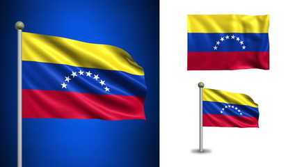 Venezuela flag - with Alpha channel, seamless loop!