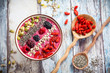 Breakfast berry smoothie bowl - 81779005