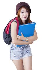 Beautiful modern high school student