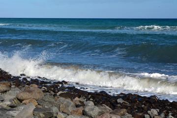 Sea Wave On The Beach Shot Near Costa Calma Fuerteventura.spain.