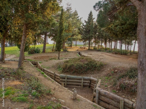Keuken foto achterwand Turkey Trenches of Gallipoli
