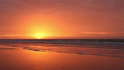 Fiery Beach Sunrise