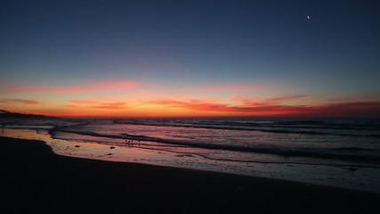 Dramatic beach daybreak