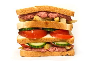 gros sandwich sur fond blanc