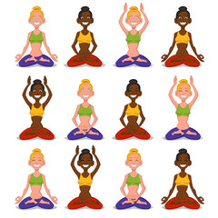 Set women yoga