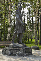 Monument to Gennady Nevelskoy in Yuzhno-Sakhalinsk