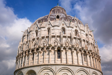 Baptistry at the Leaning Tower of Pisa, Italy