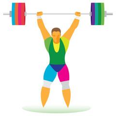 standing weightlifter