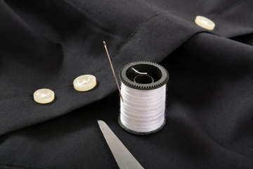 Spare button on a shirt
