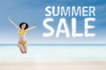 Summer sale promotion concept