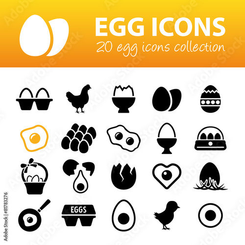 egg icons - 81783276