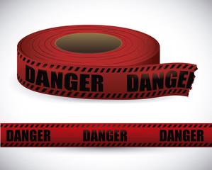 Red tape design.