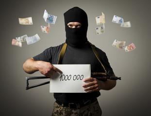 Gunman and one million euro.