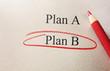 Plan B concept - 81785605