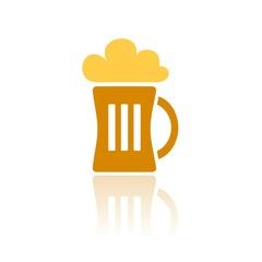 Icono cerveza COLOR reflejo