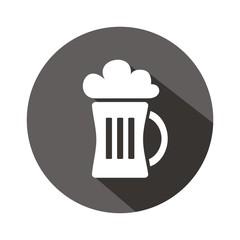 Icono cerveza botón sombra