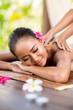 Leinwanddruck Bild - Outdoor massage