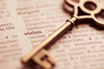 Business success key concept vision