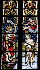 Baptism of Jesus by Saint John - Stained Glass