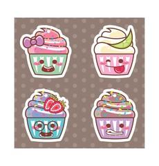 Desenho Cupcake kawaii adesivo 10