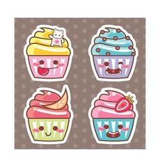 Desenho Cupcake kawaii adesivo 12