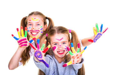 Kinder Farbige Hände Maler