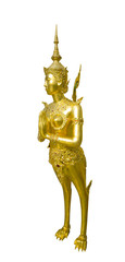 A Golden angel statue at Temple of the Emerald Buddha